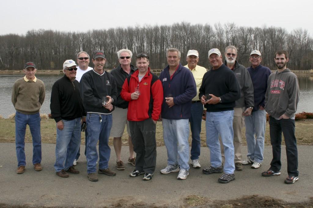 From left to right: Harry Mote, Roger Baldwin, Terry Rapp, Jamey Betz, Dan Walsh, Ryan Lippincott, Rob Seidelmann, Ray Szulczewski, Dave Branning, Skip Lippincott, Victor Oberg, Carl Oberg