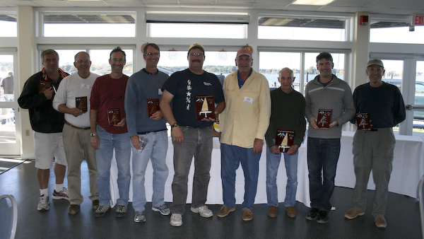 From left to right: Rob Seidelmann, Ron Stephanz, Jon Elmaleh, Jim Kaighin, Dave Ramos, Nick Mortgu, Harry Mote, Mick Roberson, Dave Betz