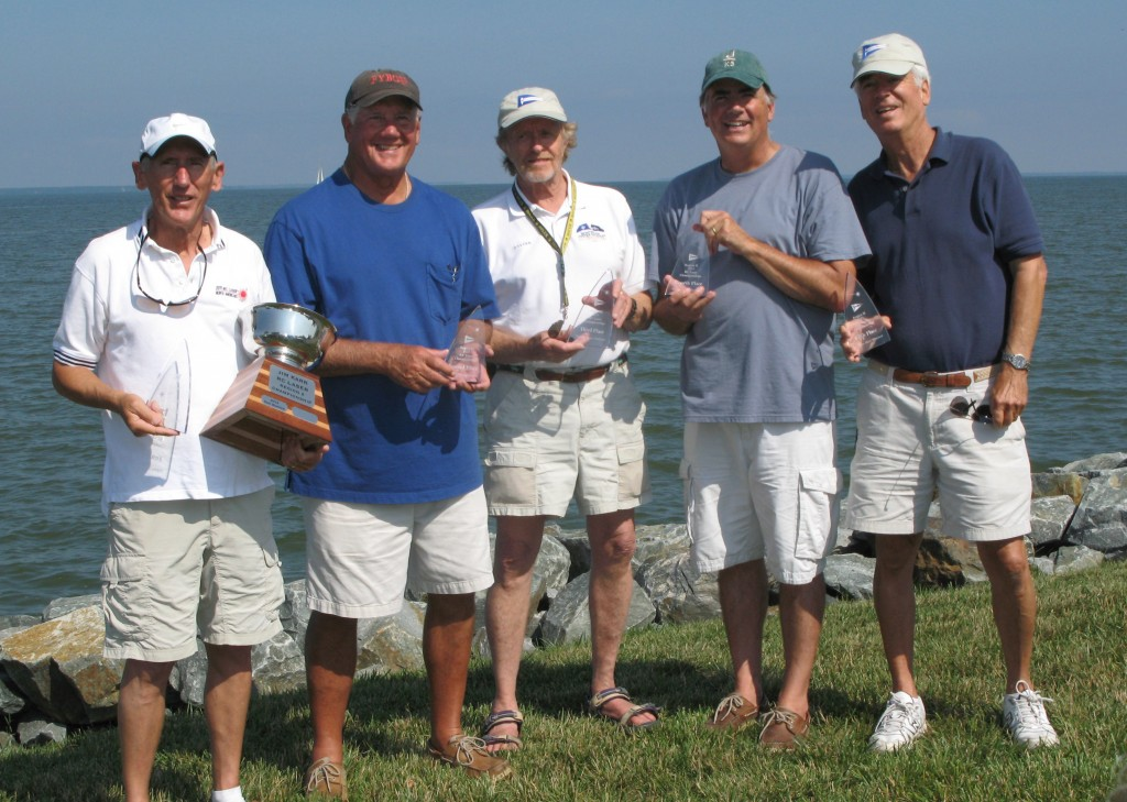 Winner Don Barker, Dave Branning, Roger Vaughan, Dave Brawner and Jim Karr