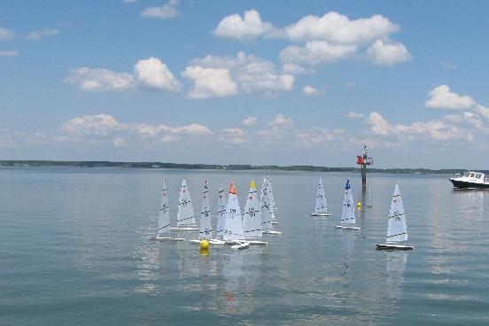 Last Race Start...Little wind left in the day