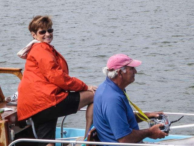 Beth and Nick Mortgu enjoying the day