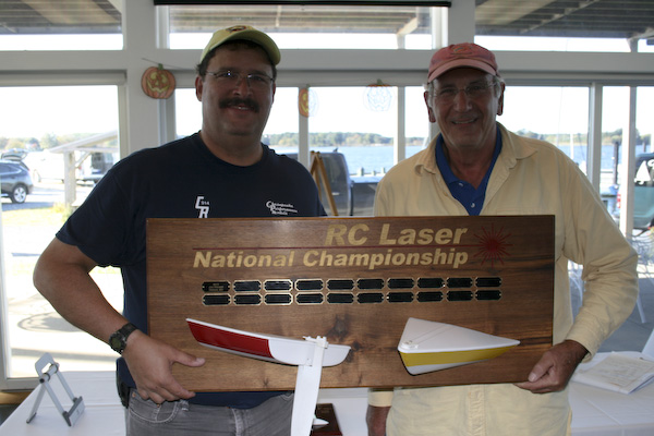 2014 RC Laser National Champion Dave Ramos and Class Secretary Nick Mortgu