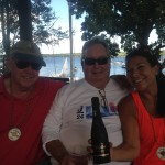 Anne Lambert, George Nicks & Jack Bennett First Place Team Boat